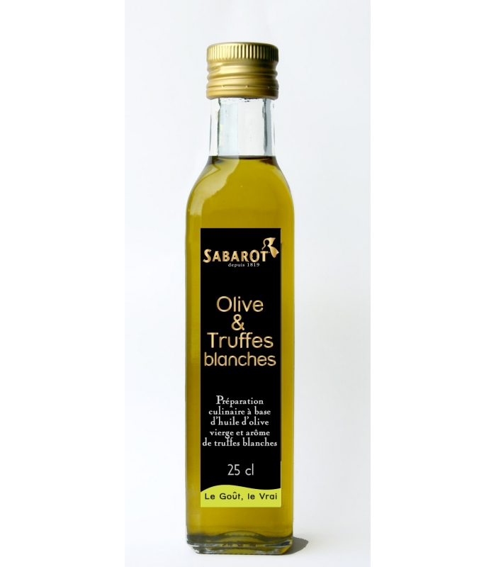 Huile Olive et Truffes blanches Premium Sabarot 25cl